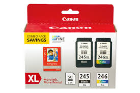 PG 245 CL 246 XL Combo Ink Pack With Photo Paper Glossy