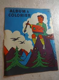 Cu1102 Album à Colorier 50s Ptit Cochon Pendu Au Plafond