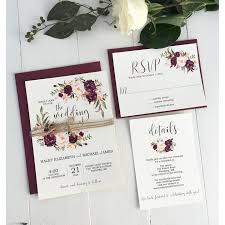 Rustic Marsala Wedding Invitation Suite Love Of Creating Design Co