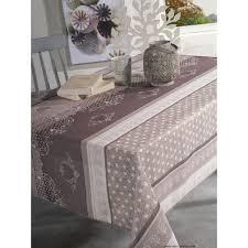 nappe en tissu boudoir taupe rectangulaire 150x300 cm pas cher