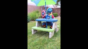 step2 sit u0026 play picnic table with umbrella youtube
