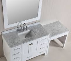 48 london single sink vanity set in white finish with one make up