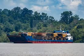 100 Huge Trucks Boat Carrying Huge Trucks For Coal Transportation In Berau