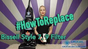 Bissell Total Floors Belt Replacement by How To Change Your Bissell Style 7 9 Filter Part 32076 Youtube