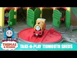 Tidmouth Sheds Trackmaster Toys R Us by Thomas And Friends Take N Play Tidmouth Sheds Youtube