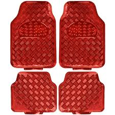 Heavy Duty Metallic Sheen Rubber Floor Mats - Red Auto Floor Guard 4 ... Auto Floor Mats For Suvs Trucks Vans Semi Custom Fit 4pc Heavy Duty Kraco Weathertech Allweather Mat Installation Video Youtube Car Vaccess How To 15 Steps With Pictures Wikihow Weathertech Custom Fit Car Mats Speedy Glass Automotive Carpet More Carpets Costco Enchanting Rioojedacom Sperling Enterprises Wide Range Of And Cargo Bigdesmallcom