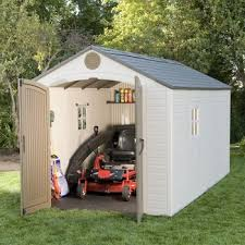 Rubbermaid Roughneck Gable Storage Shed 7x7 by Great Lifetime Brighton 8 X 15 Storage Shed 50 In Rubbermaid