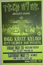 Tech Nine 9 Absolute Power Rap Hip Hop Concert Poster
