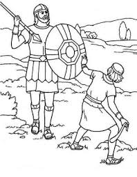David And Goliath Coloring Page 13 A Simple Drawing Of