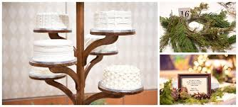 Winter Wedding A Rustic Vintage This Wooden Cake Stand