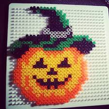 Halloween Perler Bead Templates by Halloween Pumpkin Hama Beads By Xedyglam Hama Korálky