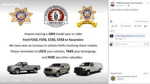 Las Vegas Police Warning Owners Of Specific Ford Vehicles After ...
