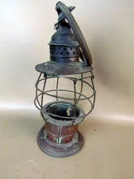 Aladdin Caboose Wall Lamp by Antique 1800s Brass Fire Presentation Oil Lantern As Is Oil