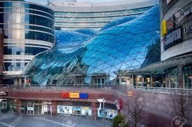 100 Poland Glass WARSAW POLAND APRIL 28 2018 Modern Glass Shopping Center