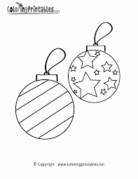Coloring Pages Printable Christmas Ornaments With Regard To Baubles Templates Colour 2017