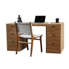 bureau teck massif bureau design en teck 6 tiroirs city livraiosn et retour gratuits