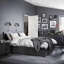 malm bettgestell hoch mit 4 schubladen schwarzbraun 160x200 cm