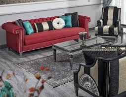 casa padrino luxus barock wohnzimmer set rot schwarz gold silber 2 sofas 2 sessel 1 couchtisch 1 beistelltisch barock wohnzimmermöbel