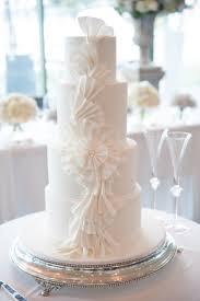 Round Silver Wedding Cake Stand Whiteweddingcake Frills Ruffles Hire Available