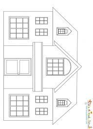 dessin d une maison à imprimer tête à modeler