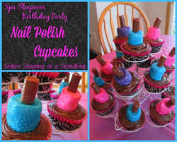 Spa Sleepover Birthday Party Marshmallow Nail Polish Cupcakes