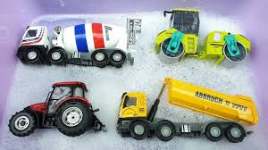 100 Kids Dump Trucks Learn Construction Vehicles Names With Cars Toys For