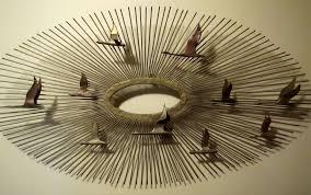 Stylish Inspiration Mid Century Metal Wall Art A Room Modern AntiqueOyster C Jere Sculpture