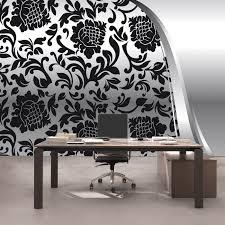 vlies fototapete 275 ornamente tapete ornamente barock schwarz weiß grau blumig wohnzimmer schwarz weiß
