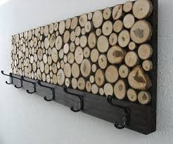 All It Takes Is Some Basic Hardware Lumber And Maple Wood Slices This Slice Rustic Coat Rack Fairly Simple To Make Heres How Do