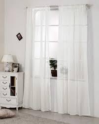 gardinen transparent mit kräuselband stores voile 1 stück creme 140x225 cm