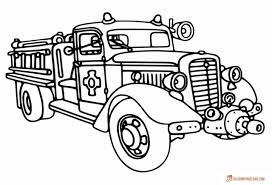 Fire Truck Coloring Pages - Free Printable Pictures In HD