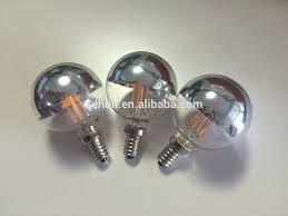 nglobe lighting 220 volt half mirror g125 led bulb half chrome led