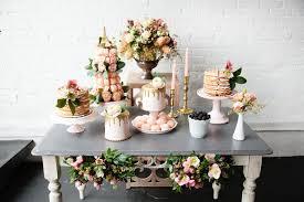 Dessert Bar At Boston Brunch Wedding Millennial Pink