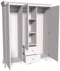 2 kleiderstangen und spiegel schlafzimmer garderobenschrank