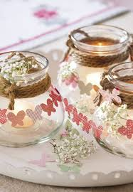 DIY Spring Table Decorations Butterfly Garlands Glass Candle Lanterns