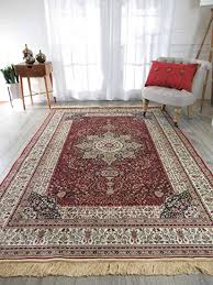 Luxury Red Silk Area Rugs For Living Room Traditional Dining 7x10