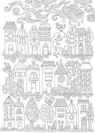 Colouring Pages Cottage Interiors