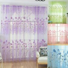 vorhänge geblümt gardine mit kräuselband voile dekoschal