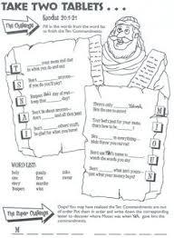 Ten Commandment Coloring Pages For Kids