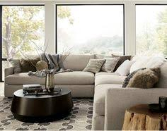lounge ii 3 piece sectional sofa in taft truffle crate and
