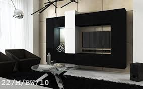 future 22 wohnwand anbauwand wand schrank wände schränke wohnzimmer wohnzimmerschrank matt weiß schwarz schwarz weiß led rgb beleuchtung 22 m bw 10