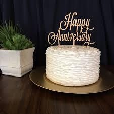 Anniversary Cake Topper Happy Gold Silver Glitter DIY Rustic