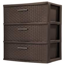 sterilite 3 drawer wide tower espresso weave target