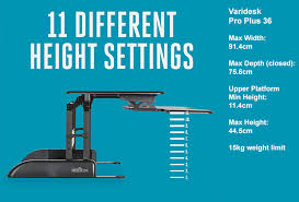 Varidesk Pro Plus 36 by Varidesk Pro Plus Series Of Sit Stand Adaptors The Back Centre
