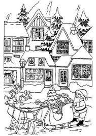 Christmas Village To Color And PrintFrom The Gallery Noel