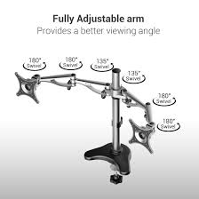 Desk Mount Monitor Arm Dual by M13 Dual Arm Monitor Desk Mount For 10 U2033 27 U2033 U2013 Fleximounts