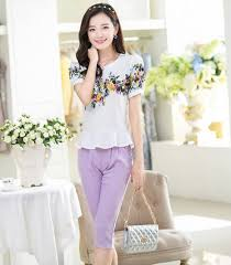 2014 Ladies Clothing Tops Latest Design With Elegant Flower Women T Shirt Type