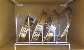 Evelots Metal Pot Lid Storage Rack