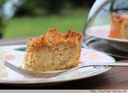 nachgebacken apfelkuchen mit marzipan und nüssen aus
