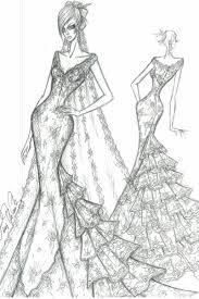 Drawn Wedding Dress Fashion Designing 5